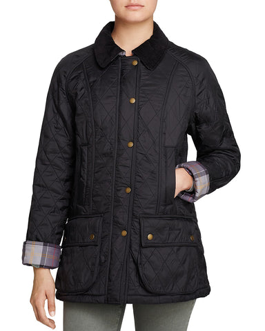 Barbour Womens Beadnell Polarquilt Jacket-Black
