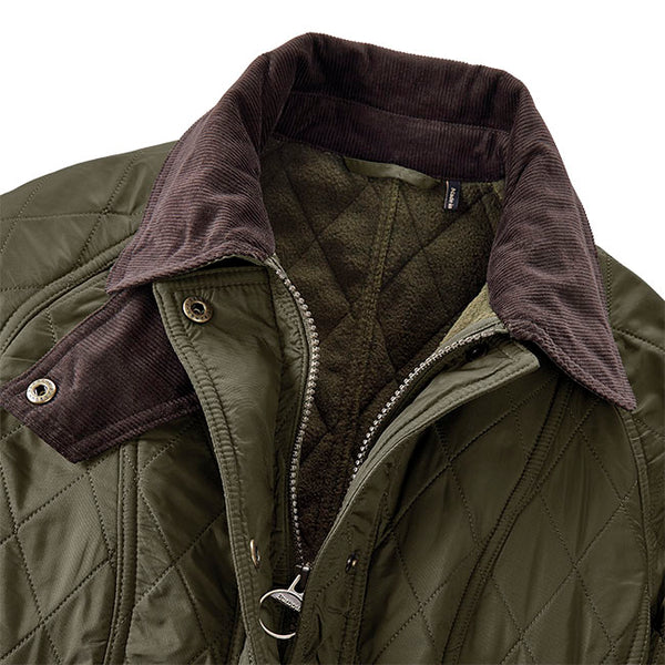 Barbour Womens Beadnell Polarquilt Jacket-Olive