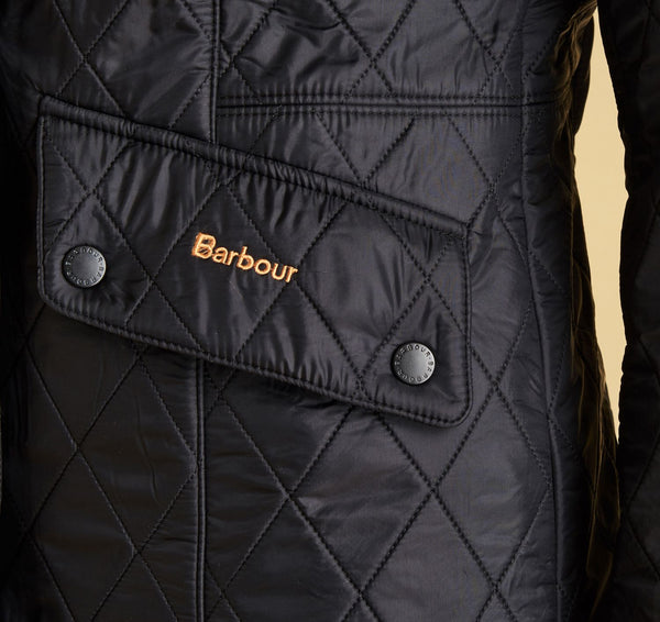Barbour Womens Cavalry Polarquilt Jacket-Black