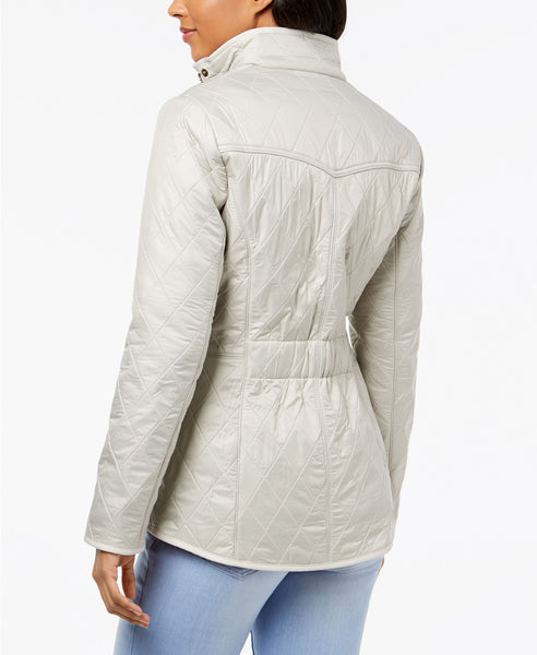 Barbour Womens Cavalry Polarquilt Jacket-Pearl