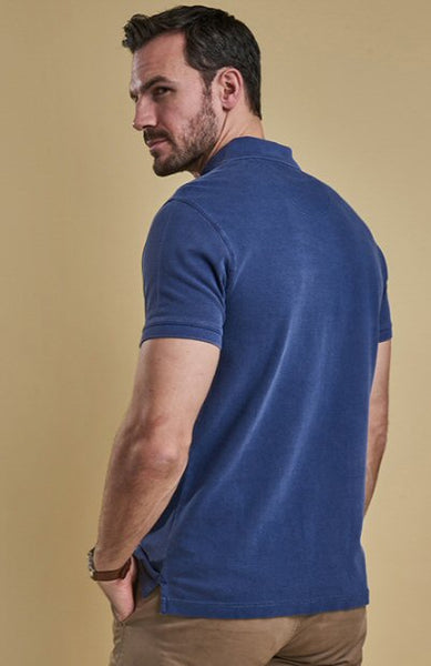 Barbour Mens Washed Sports Polo-Navy