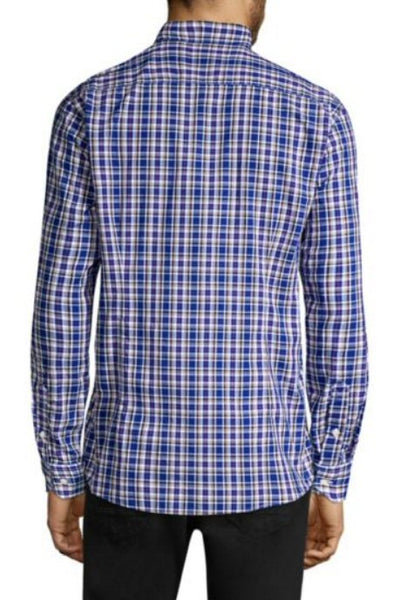 Barbour Mens Stapleton Highland Check Sport Shirt-Bright Blue