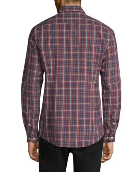 Barbour Mens Stapleton Highland Check Sport Shirt-Navy