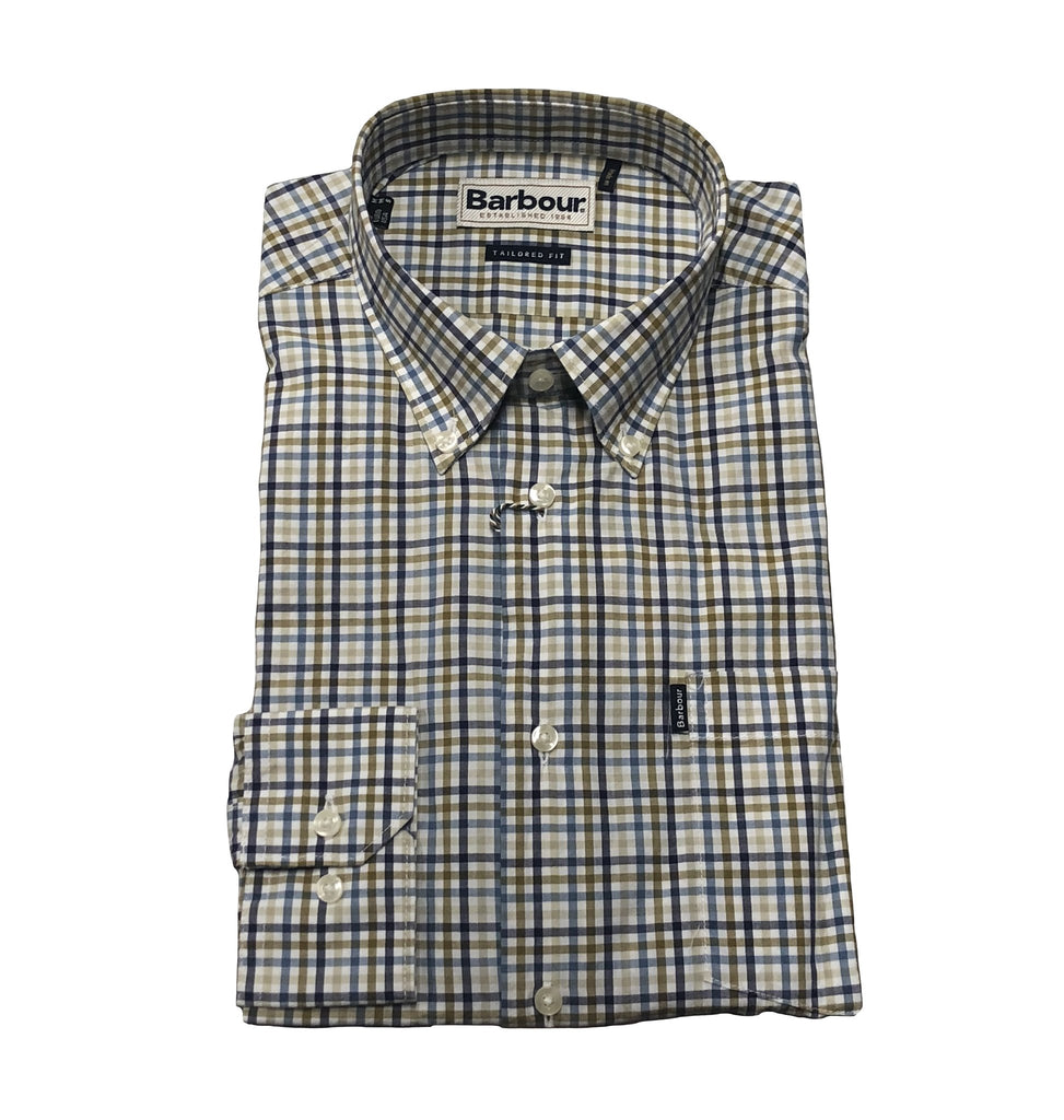 Barbour Mens Stapleton Tattersall Sport Shirt -Shop Bennetts Clothing for a large selection of outdoors menswear.