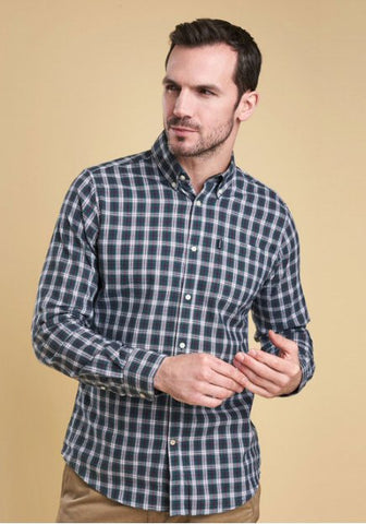 Barbour Mens Dalton Highland Check Shirt-Forest