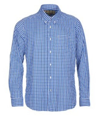 Barbour Mens Hill Performance Shirt-Bright Blue