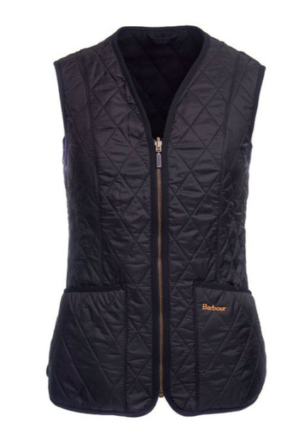 Barbour Womens Betty Fleece Vest-Black