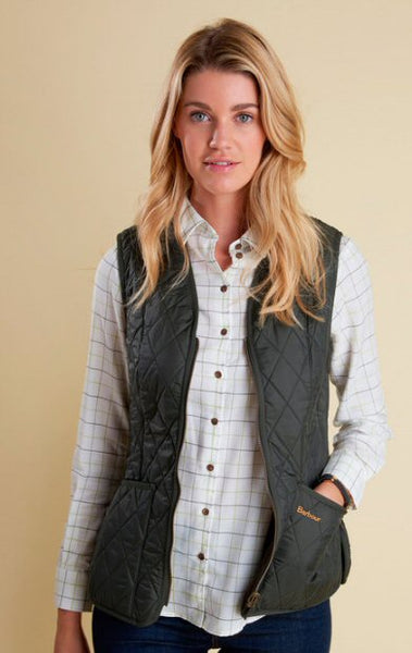 Barbour Womens Betty Fleece Vest-Olive