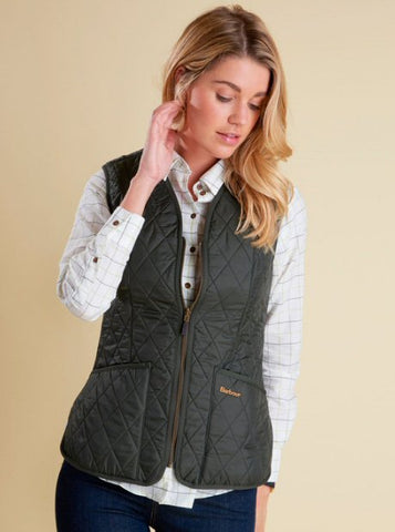 Barbour Womens Betty Quilted Fleece Vest/Liner -Shop Bennetts Clothing for a large selection of womens outdoors wear.