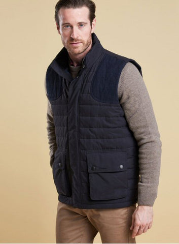 Barbour Mens Bradford Quilted Vest-Navy
