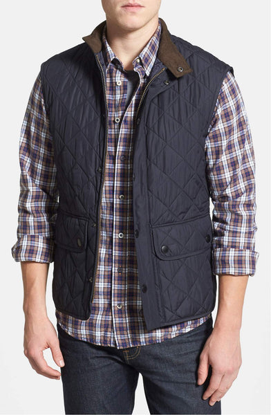 Barbour Mens Lowerdale Gilet Vest-Navy