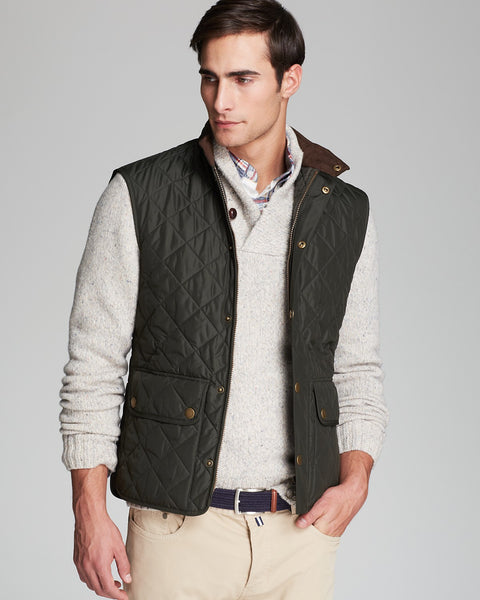 Barbour Mens Lowerdale Gilet Vest-Dark Green