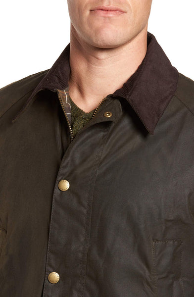 Barbour Mens Ashby Wax Jacket-Olive