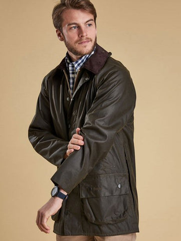 Barbour Mens Beaufort Wax Jacket-Sage