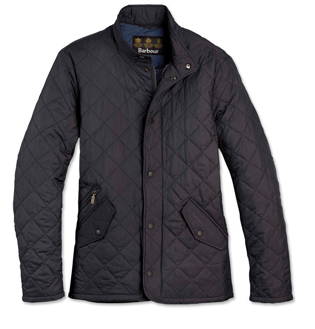 Barbour Mens Flyweight Chelsea Quilted Jacket-Navy
