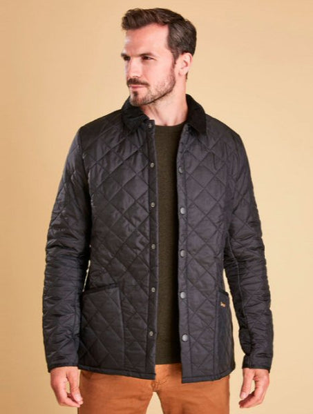 Barbour Mens Heritage Liddesdale Quilted Jacket-Navy