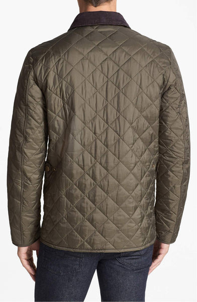 Barbour Mens Tinford Quilted Jacket-Olive Green