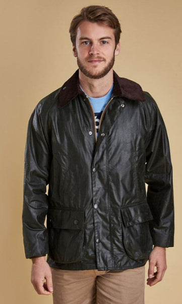 Barbour Mens Bedale Wax Jacket-Sage