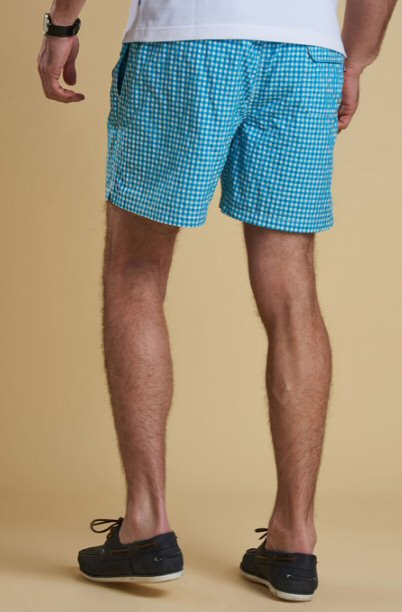 2c0ec3c6a4 ... Trunks -Bennetts Clothing · Barbour Mens Gingham Swim Short-Aqua ...