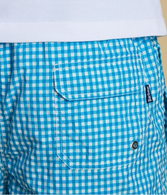 5303ddaebf ... Trunks -Bennetts Clothing · Barbour Mens Gingham Swim Short-Aqua · Barbour  Mens Gingham Swim Short-Aqua