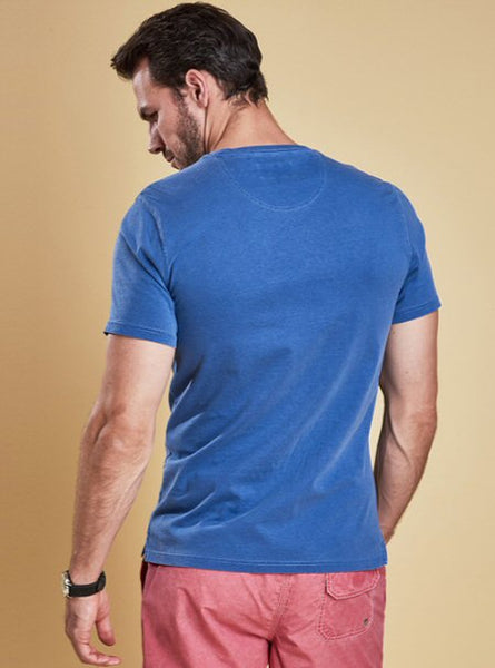 Barbour Mens Garment Dyed Tee Shirt-Marine