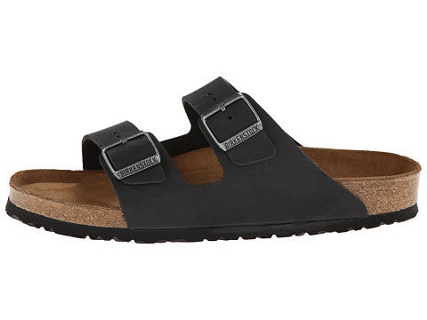 Birkenstock Arizona Soft Footbed Sandal-Black Oiled Leather - Bennett's Clothing - 2