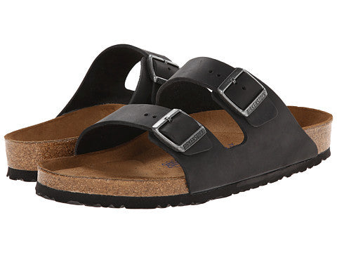 Birkenstock Arizona Soft Footbed Sandal-Black Oiled Leather - Bennett's Clothing - 1