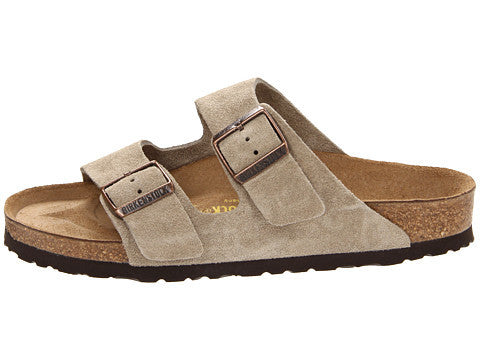 25a9be16b Birkenstock Arizona Soft Footbed Sandal-Taupe Suede – Bennett s Clothing