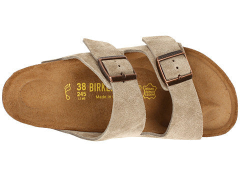 Birkenstock Arizona Soft Footbed Sandal-Taupe Suede - Bennett's Clothing - 6