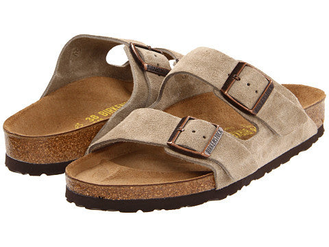 Birkenstock Arizona Soft Footbed Sandal-Taupe Suede - Bennett's Clothing - 1