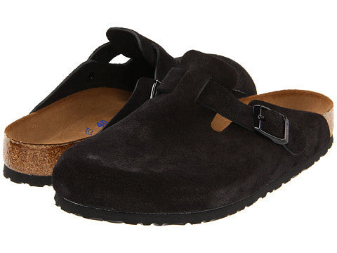 Birkenstock Boston Clog-Black Suede - Bennett's Clothing - 1