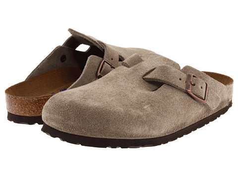 Birkenstock Boston Clog-Taupe Suede - Bennett's Clothing - 1