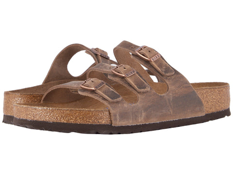 Birkenstock Women's Florida Soft Footbed Sandal-Tobacco Oiled Leather