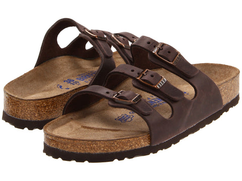 Birkenstock Women's Florida Soft Footbed Sandal-Habana Waxy Leather - Bennett's Clothing - 1