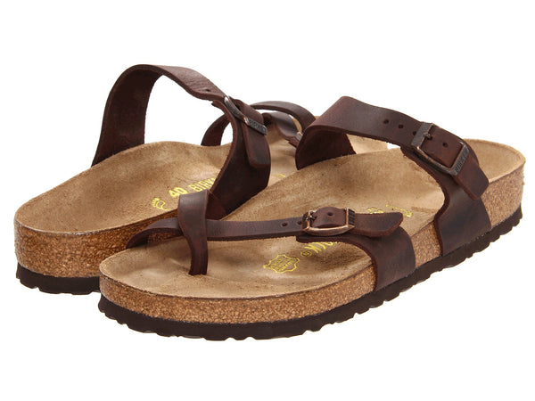 Birkenstock Women's Mayari Leather Sandal-Habana Oiled - Bennett's Clothing - 1