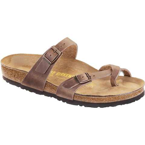 Birkenstock Mayari Oiled Leather Sandal-Tobacco Brown
