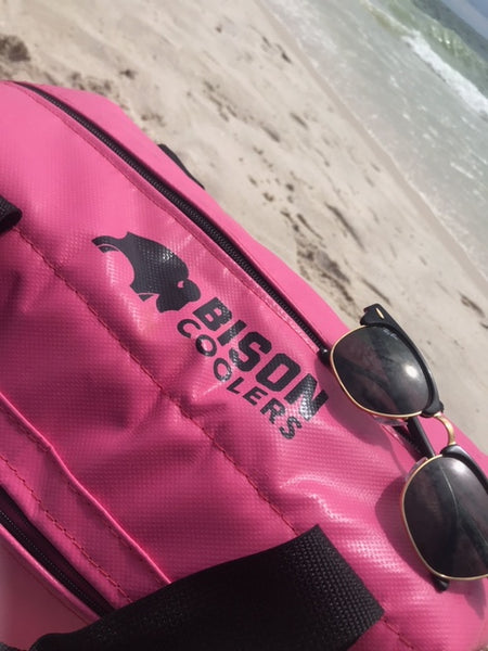 BISON Softpak Ice Chest Cooler-12 Can-Pink