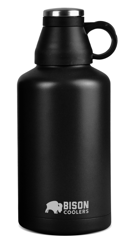 Bison 64oz Beer Growler-Black - Bennett's Clothing