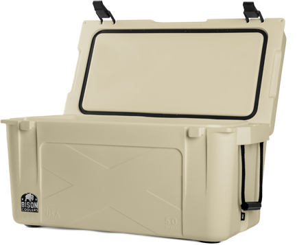 BISON 50 QT Cooler-Sand - Bennett's Clothing - 2