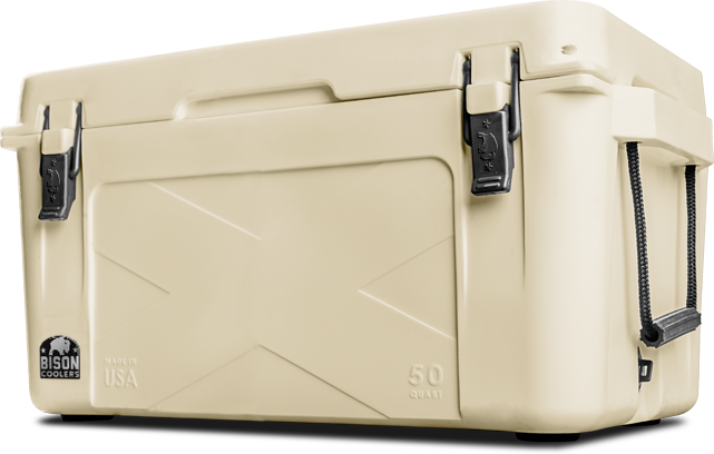 BISON 50 QT Cooler-Sand - Bennett's Clothing - 1