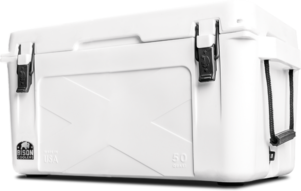 BISON 50 QT Cooler-White - Bennett's Clothing - 1