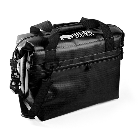 BISON Softpak Ice Chest Cooler-12 Can-Black - Bennett's Clothing - 1