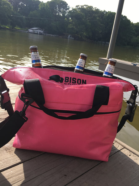 BISON Softpak Ice Chest Cooler-12 Can-Pink - Bennett's Clothing - 3
