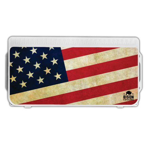 Bison Cooler Lid Decal-American Flag - Bennett's Clothing