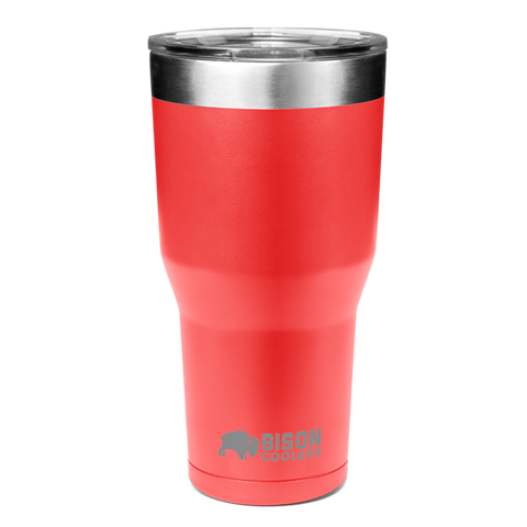 BISON TUMBLER-30oz-Red - Bennett's Clothing