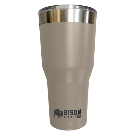 BISON TUMBLER-30oz-Sand - Bennett's Clothing