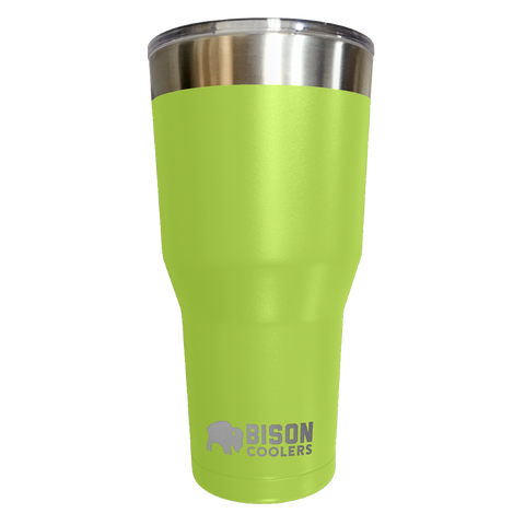 BISON TUMBLER-30oz-Lime Stainless Steel - Bennett's Clothing