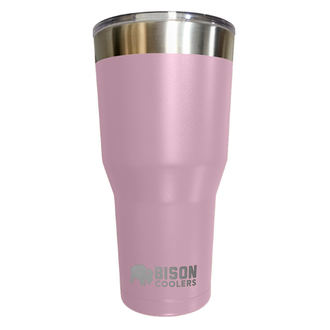 BISON TUMBLER-30oz-Pink Stainless Steel - Bennett's Clothing