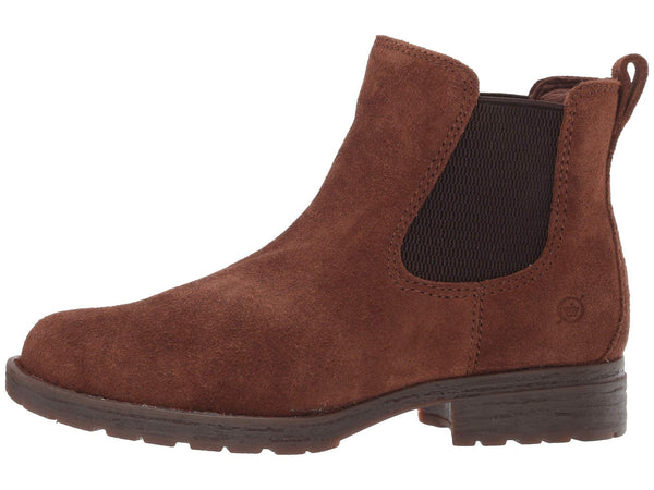Born Cove Pull-On Boot-Brown Suede Leather