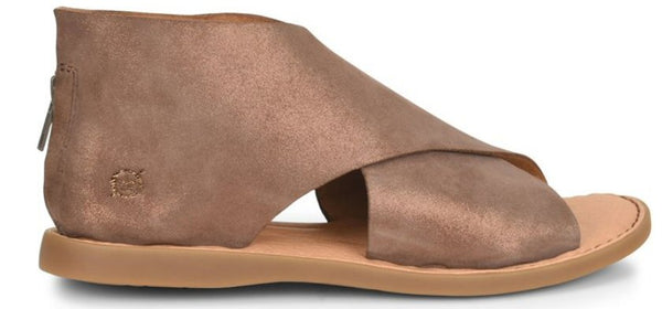 Born Iwa Criss Cross Sandal-Bronze Copper Metallic
